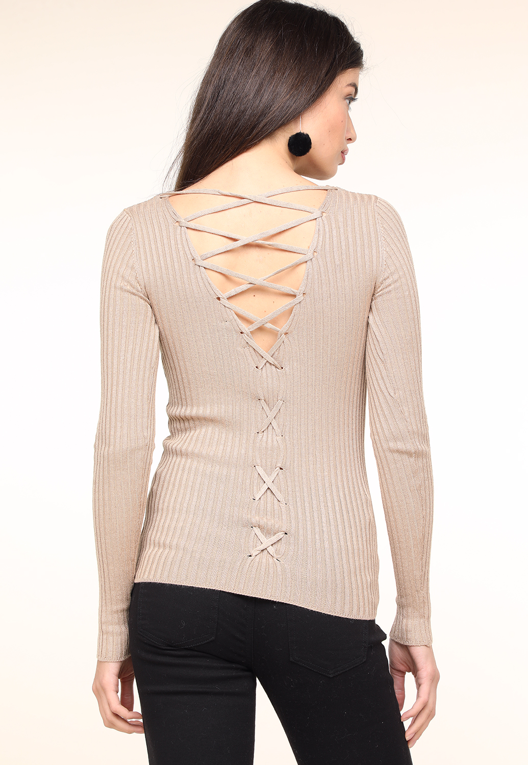 Back Criss-Cross Casual Top