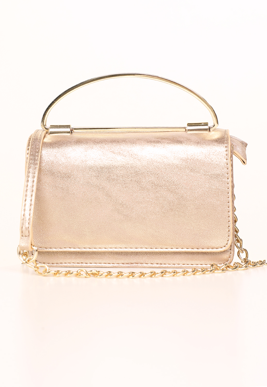 Faux Leather Chain Crossbody Bag