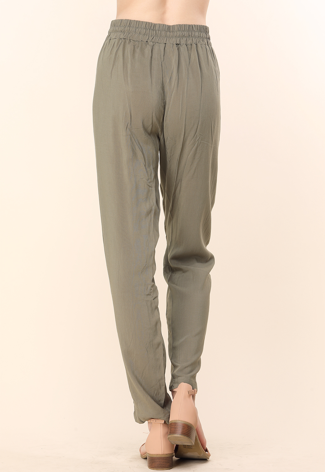 Drawstring Side Lined Pants