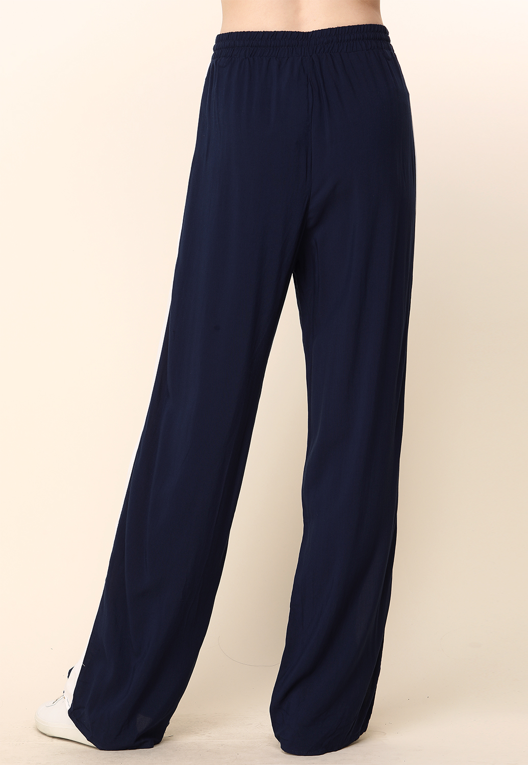 Side Lined Wide Leg  Pants