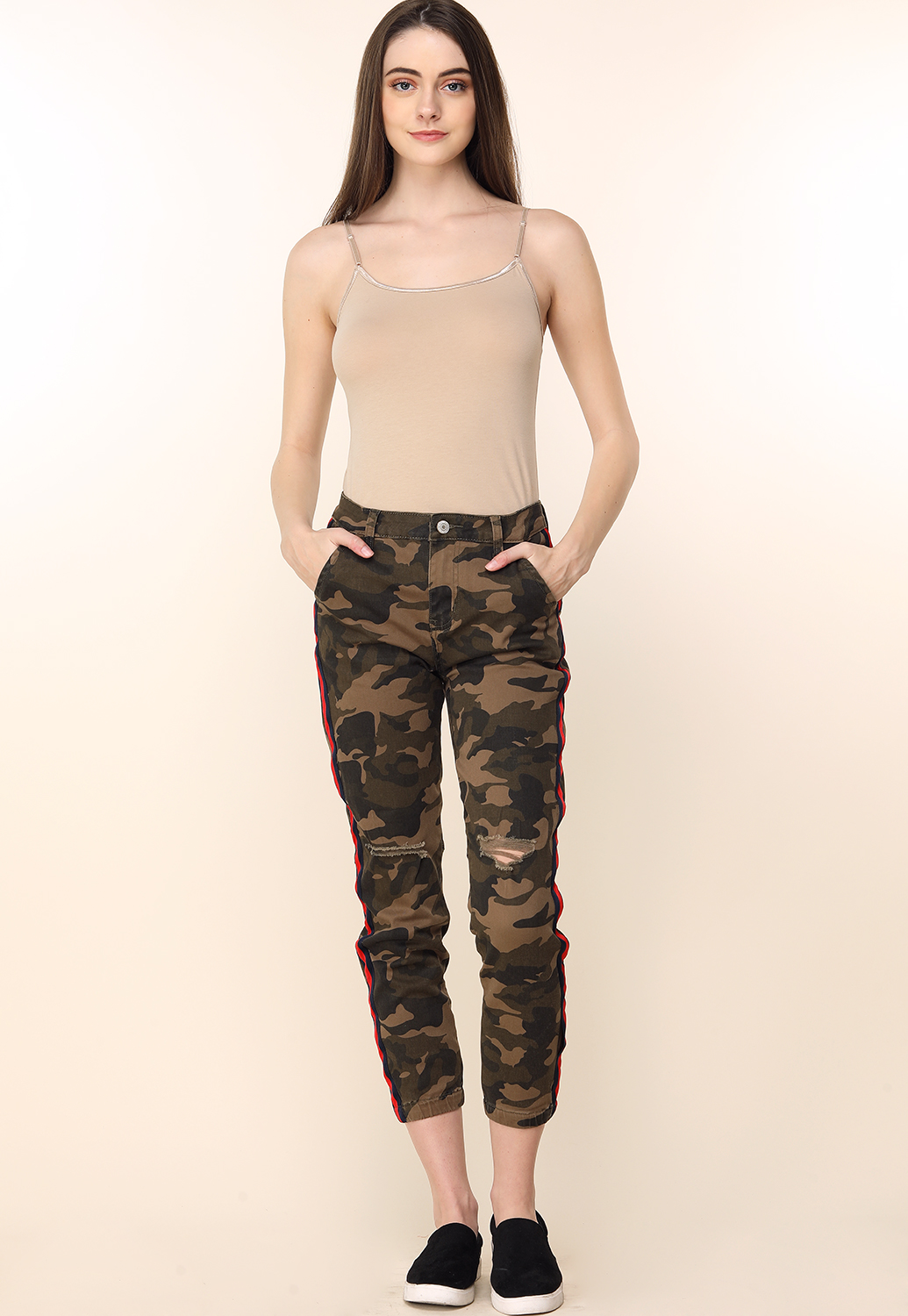 Camo Print Side Lined Pants