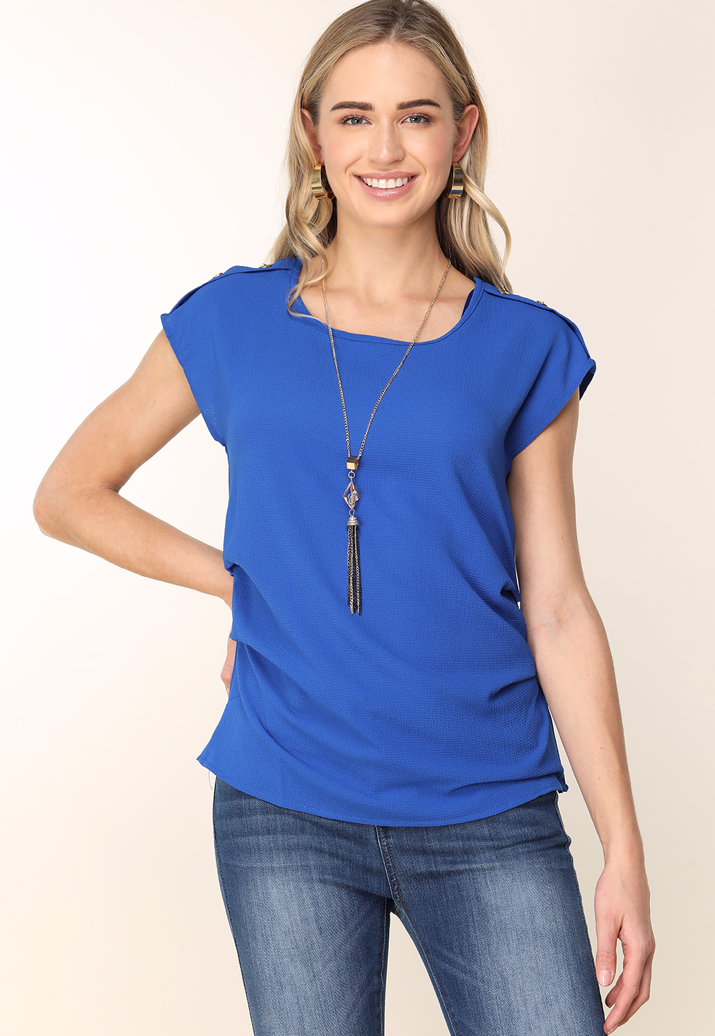 Dressy Top W/ Necklace