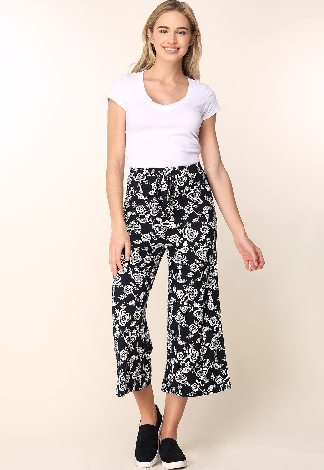 Floral Casual Pants