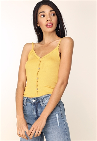 Button-Front Cami Top