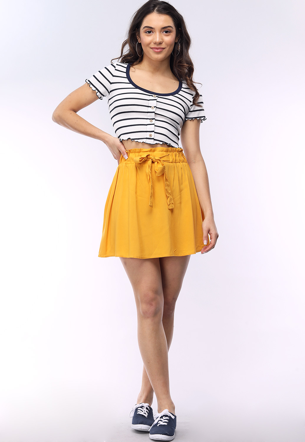 Tie-Front Mini Skirt