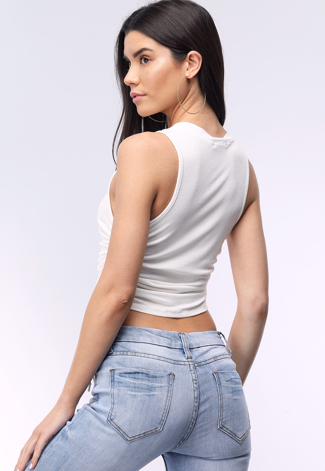 Side Ruched Detail Tank Top