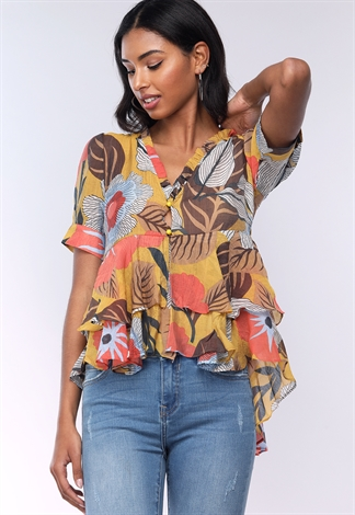 Floral Flare Casual Top