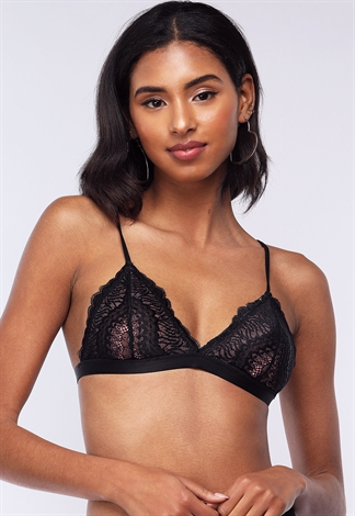 Scalloped Lace Detail Bralette