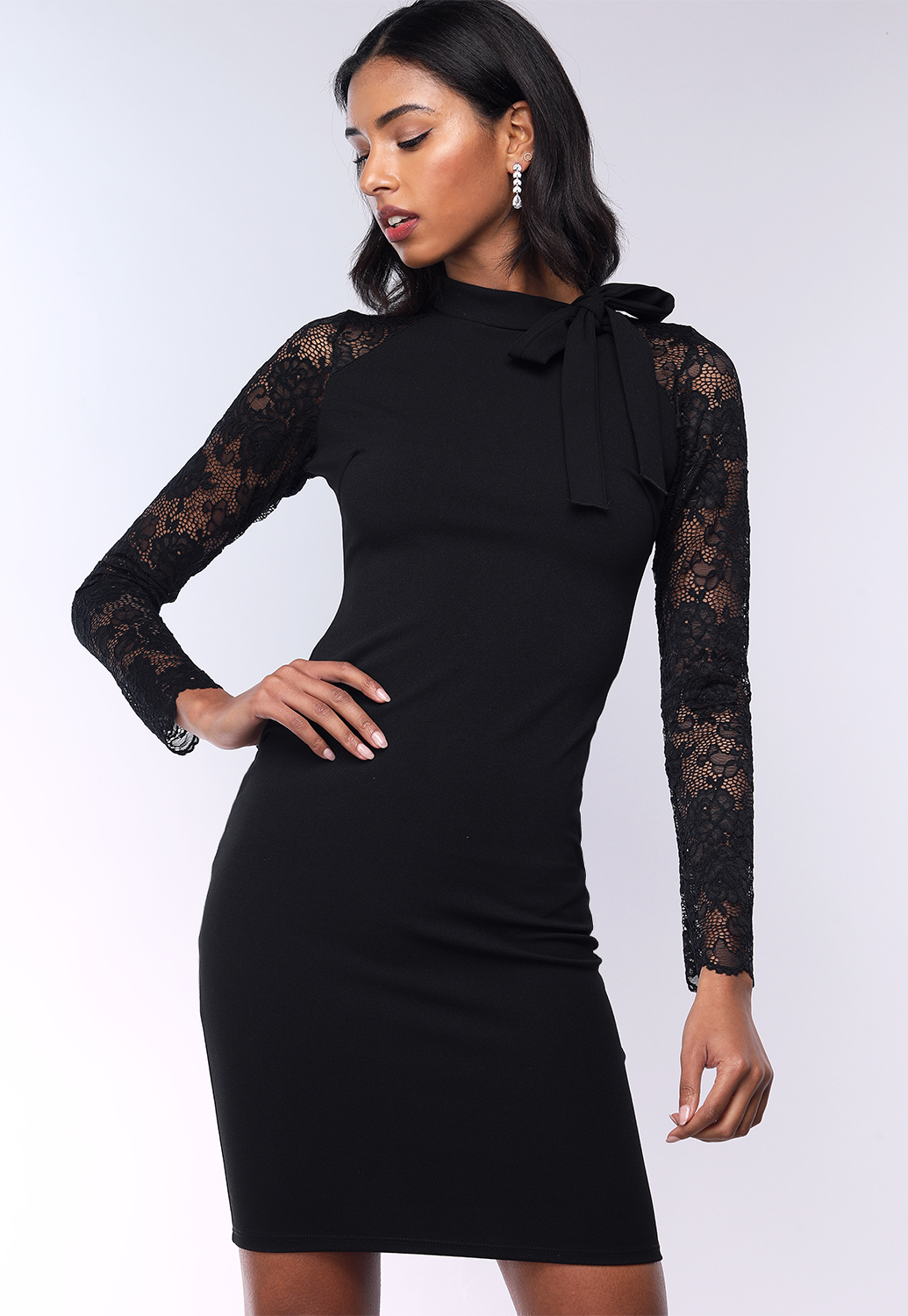 Floral Lace Long Sleeve Dress