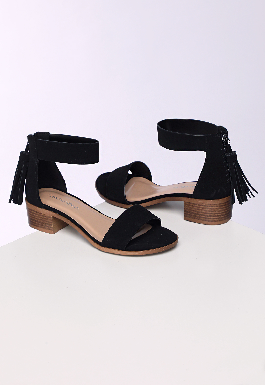 Tassel Low Heel Sandals