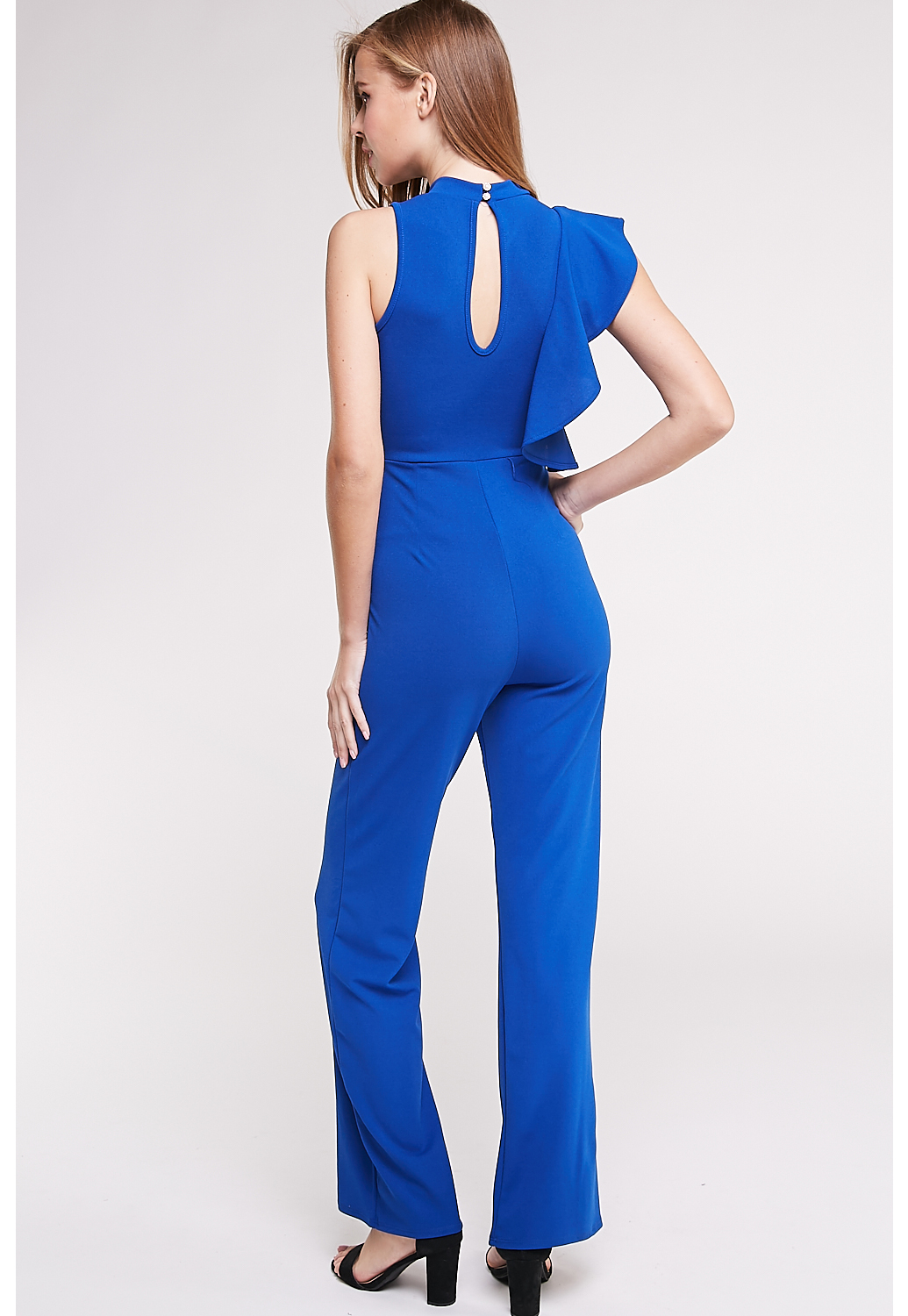 Side Ruffle Detail Jumpsuit