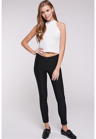 Skinny Fit Stretch Dressy Pants