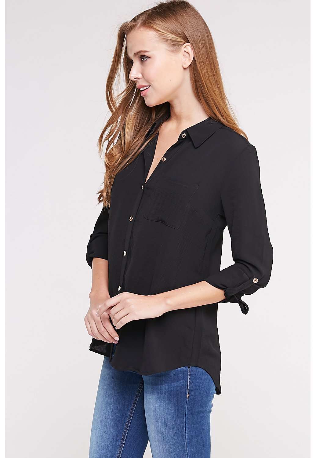 Long Sleeve Button Up Top