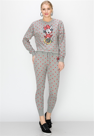 Polka Dot Minnie Mouse Graphic Joggers