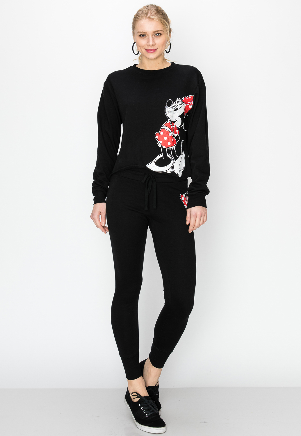 Minnie Mouse Graphic Cropped Sweatshirt