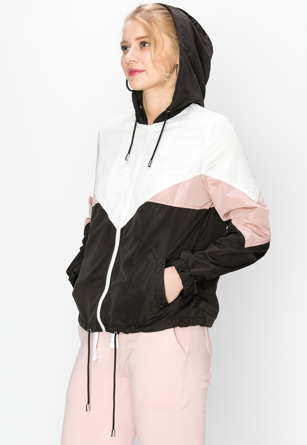 Colorblock Zip-Front Windbreaker