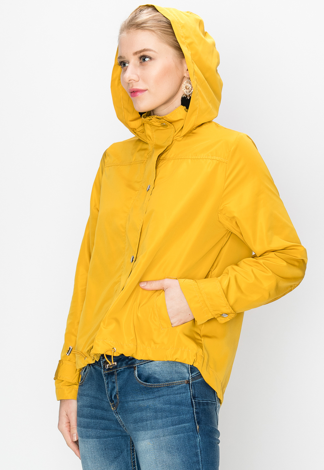 Active Button Up Hooded Jacket