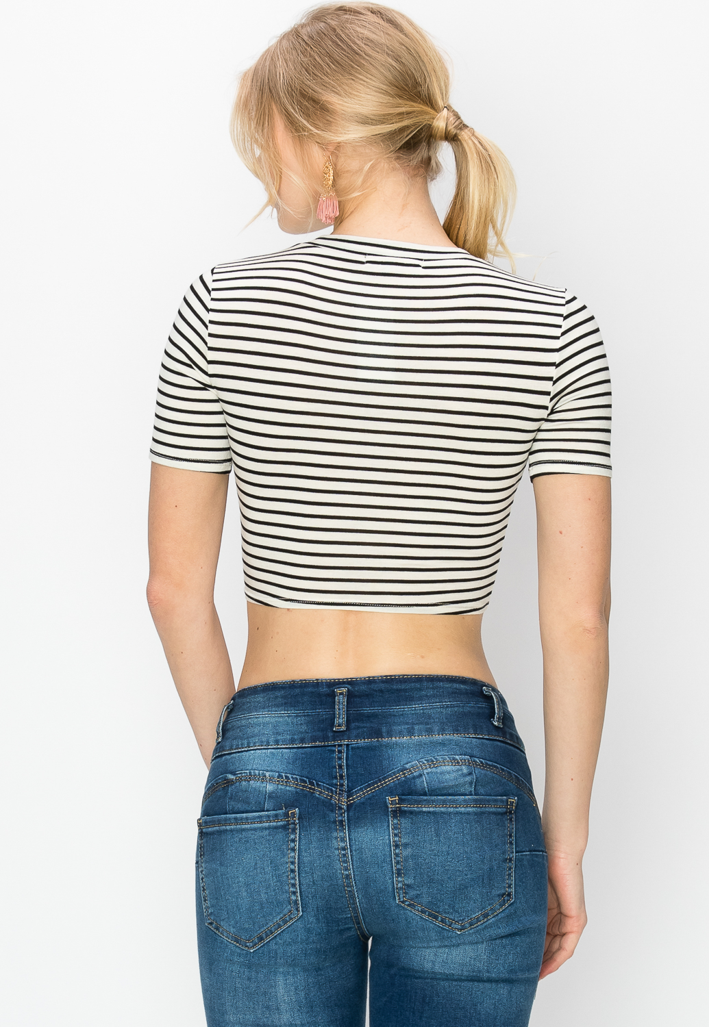 Knotted Striped Top