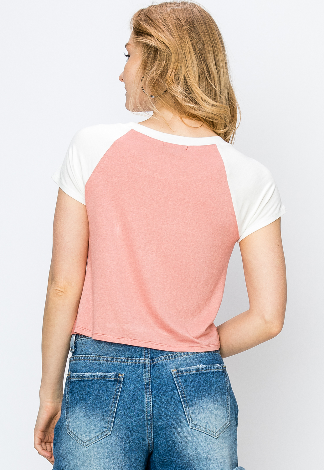 Colorblock Twist Front Top