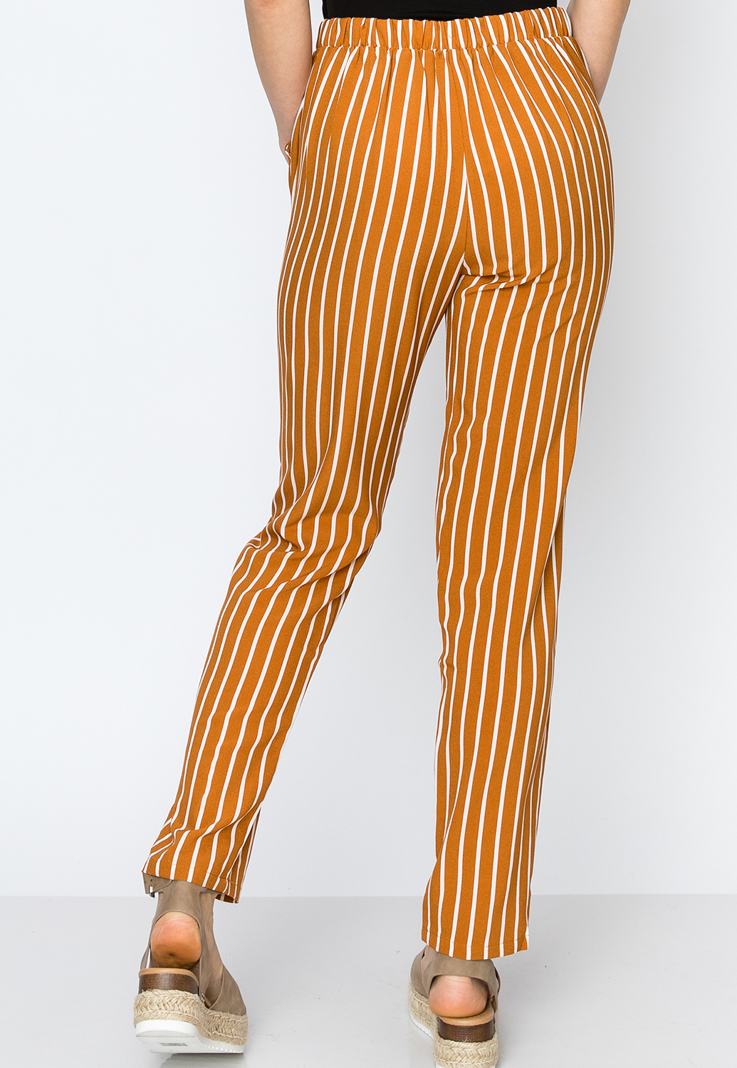 Pinstriped Casual Pants