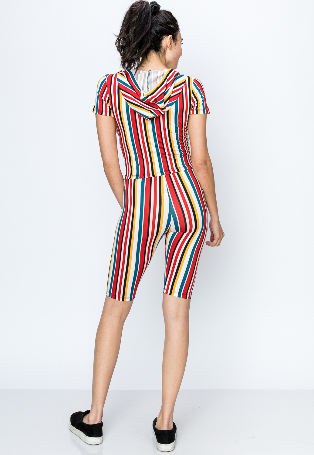 Pinstriped Activewear Set