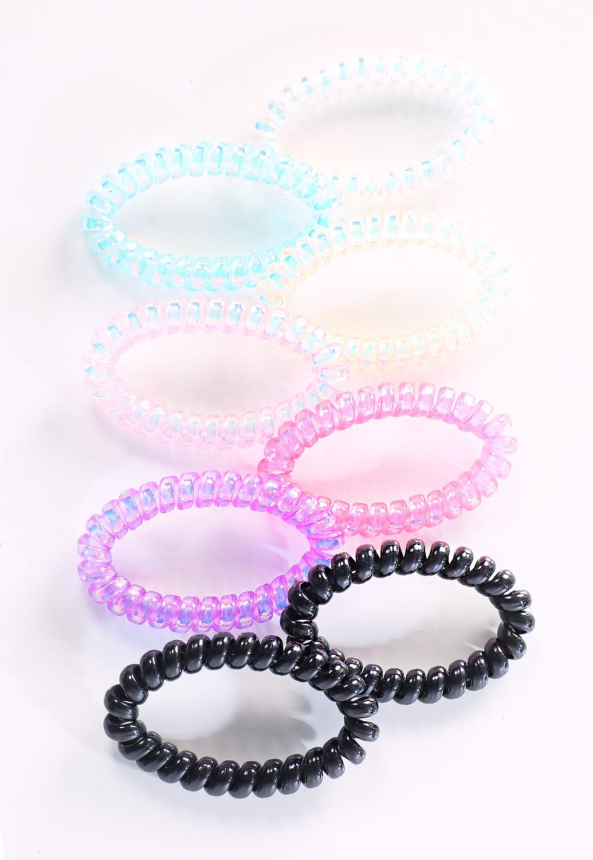 Clear Spiral Hair Tie Set  19b24d7428f