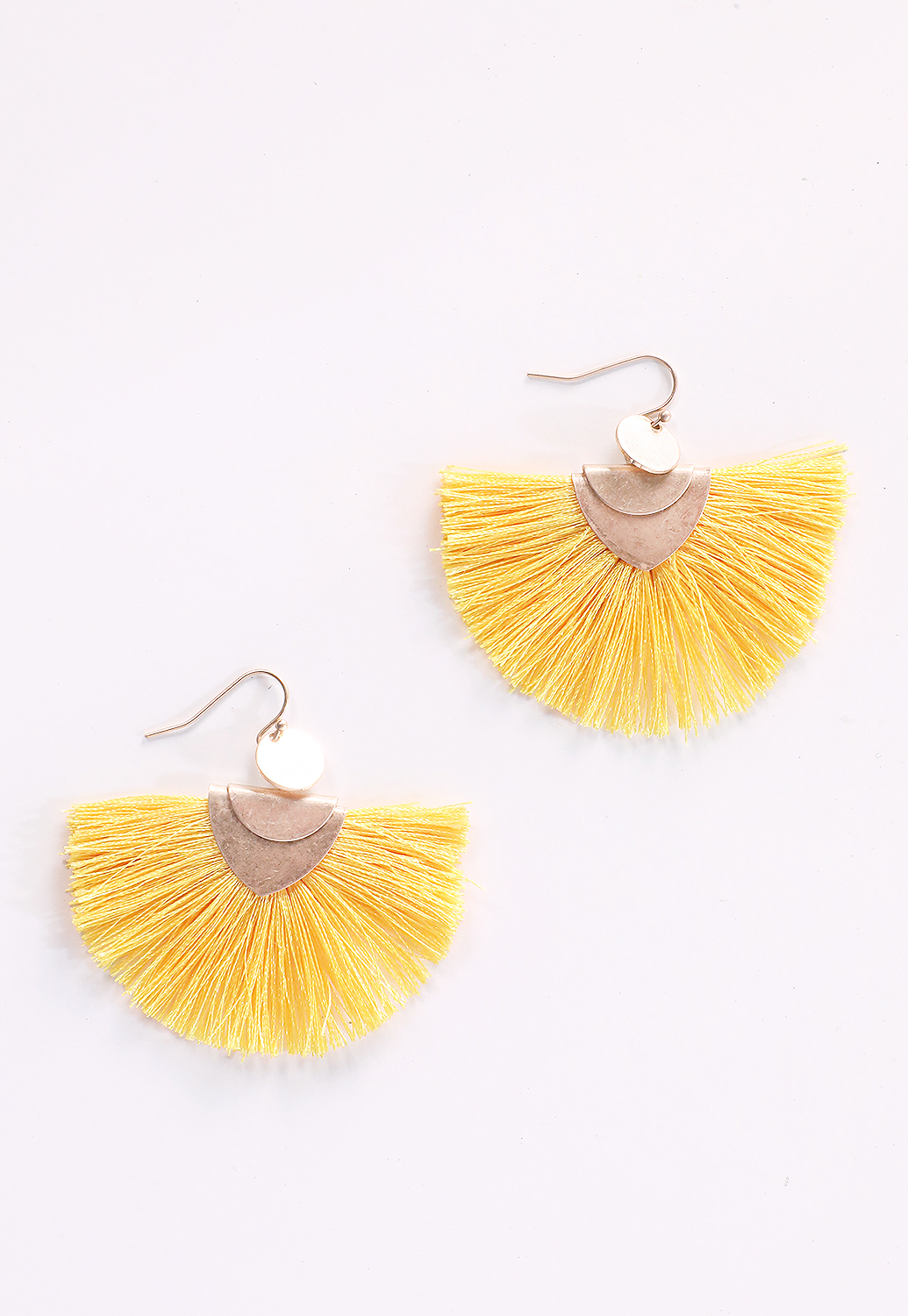 Fringe Fan Drop Earrings