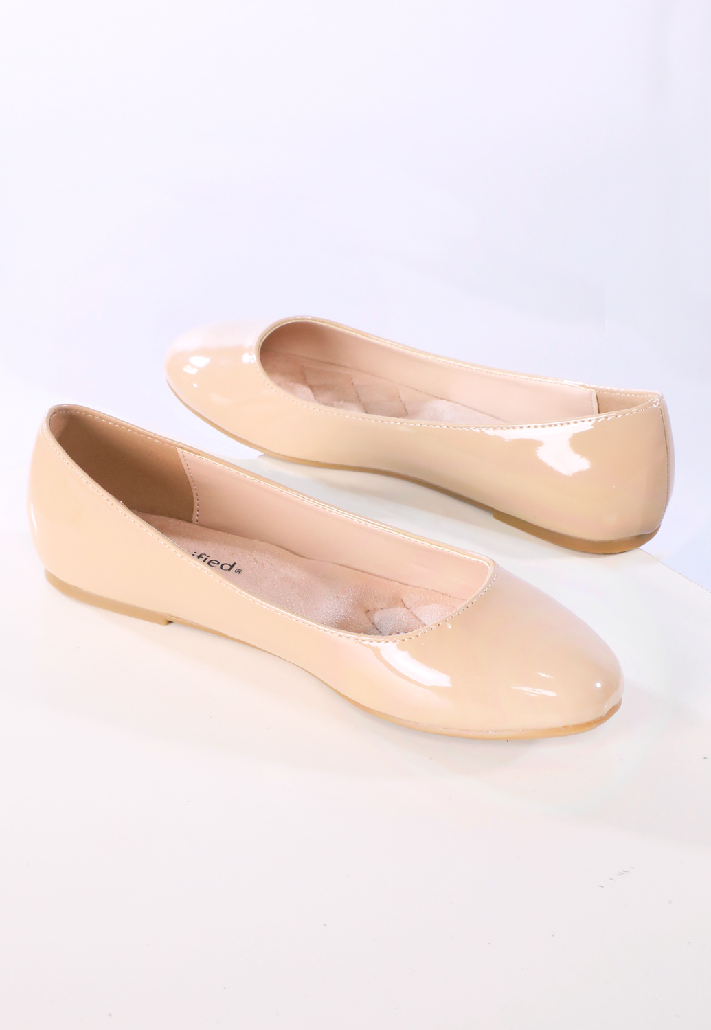 Faux Patent Leather Flats