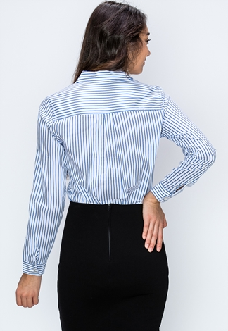 Striped Dressy Blouses Shop New In At Papaya Clothing
