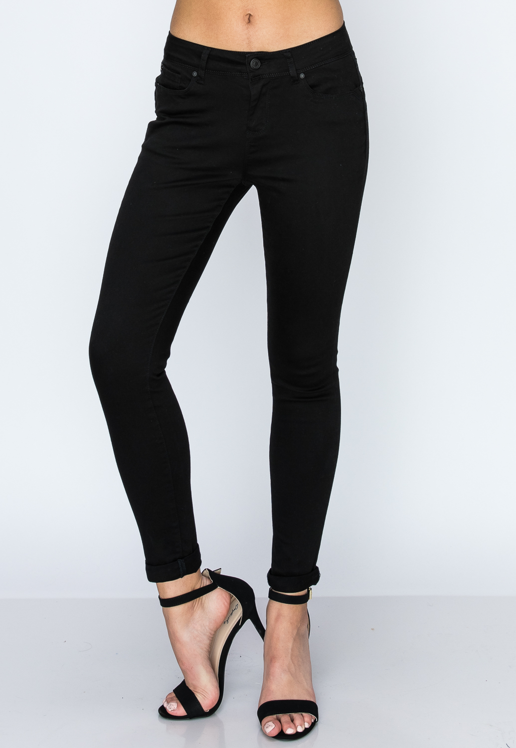 Mid Rise Push Up Jeans