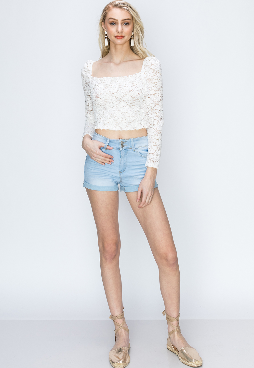 Floral Lace Cropped Top
