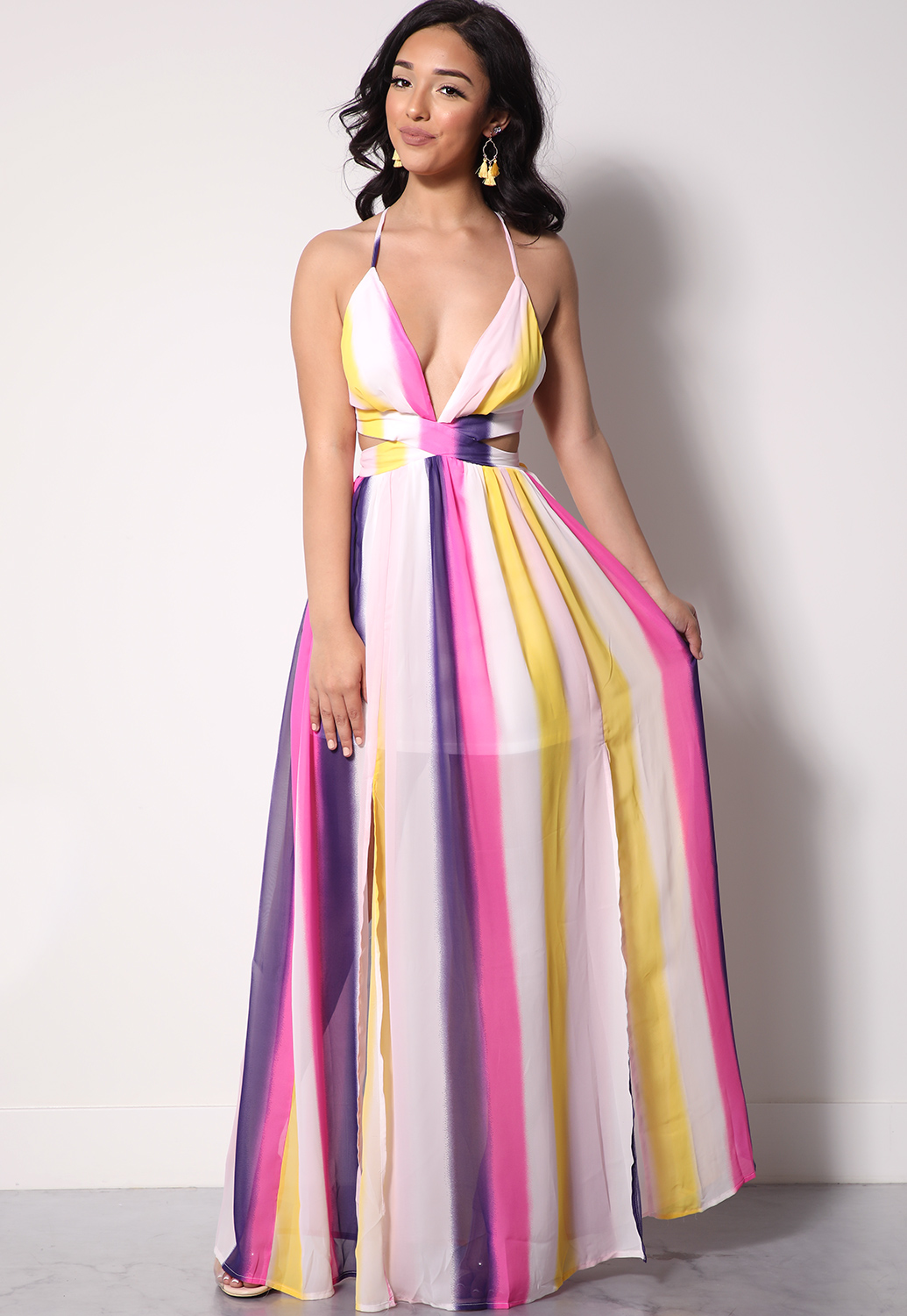 on sale first look half off Multi-Color Tie Dye Maxi Dress | Shop Dresses at Papaya Clothing