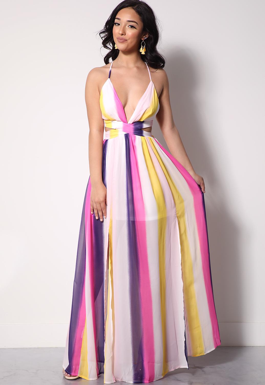 799f1ccd183 Multi-Color Tie Dye Maxi Dress