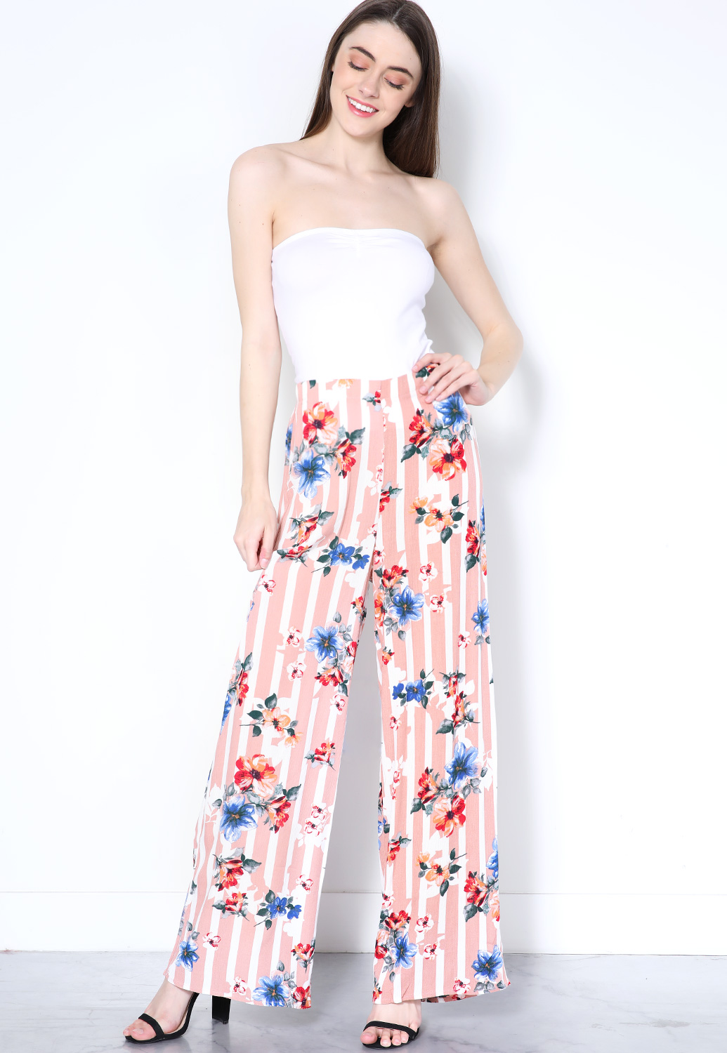 Floral Print Casual Pants