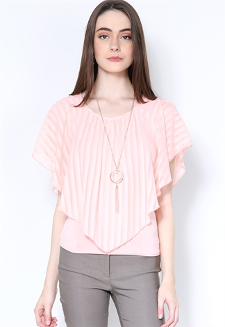 Dressy Blouse W/Necklace