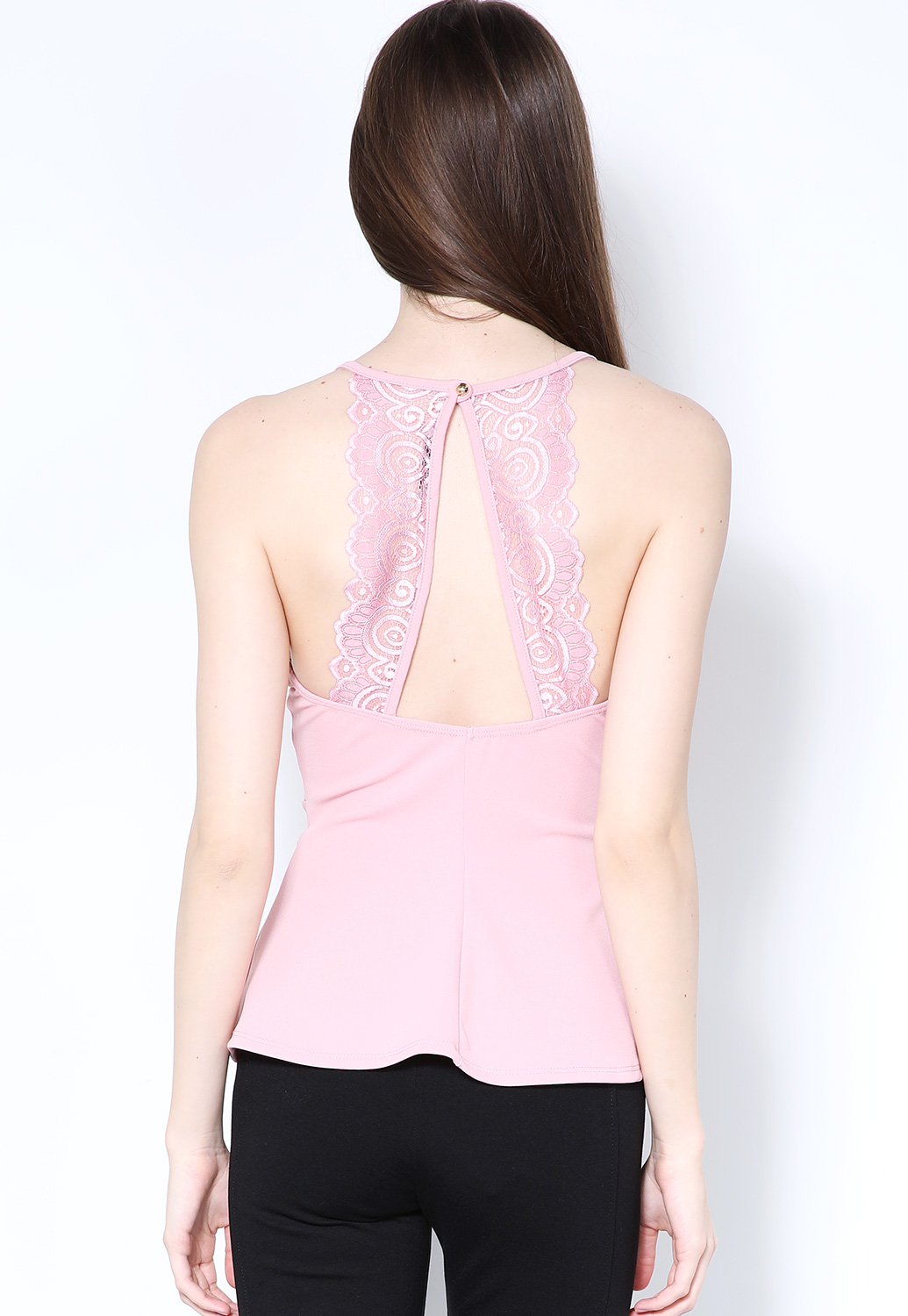 Back-Lace Detail Dressy Top