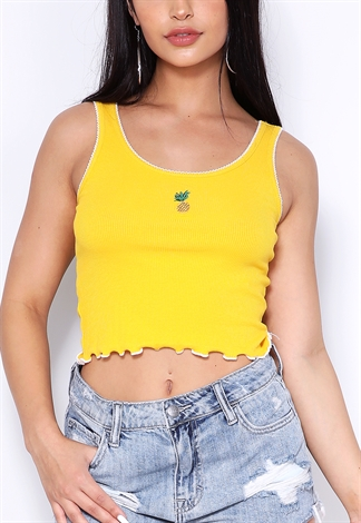 Pineapple Graphic Top