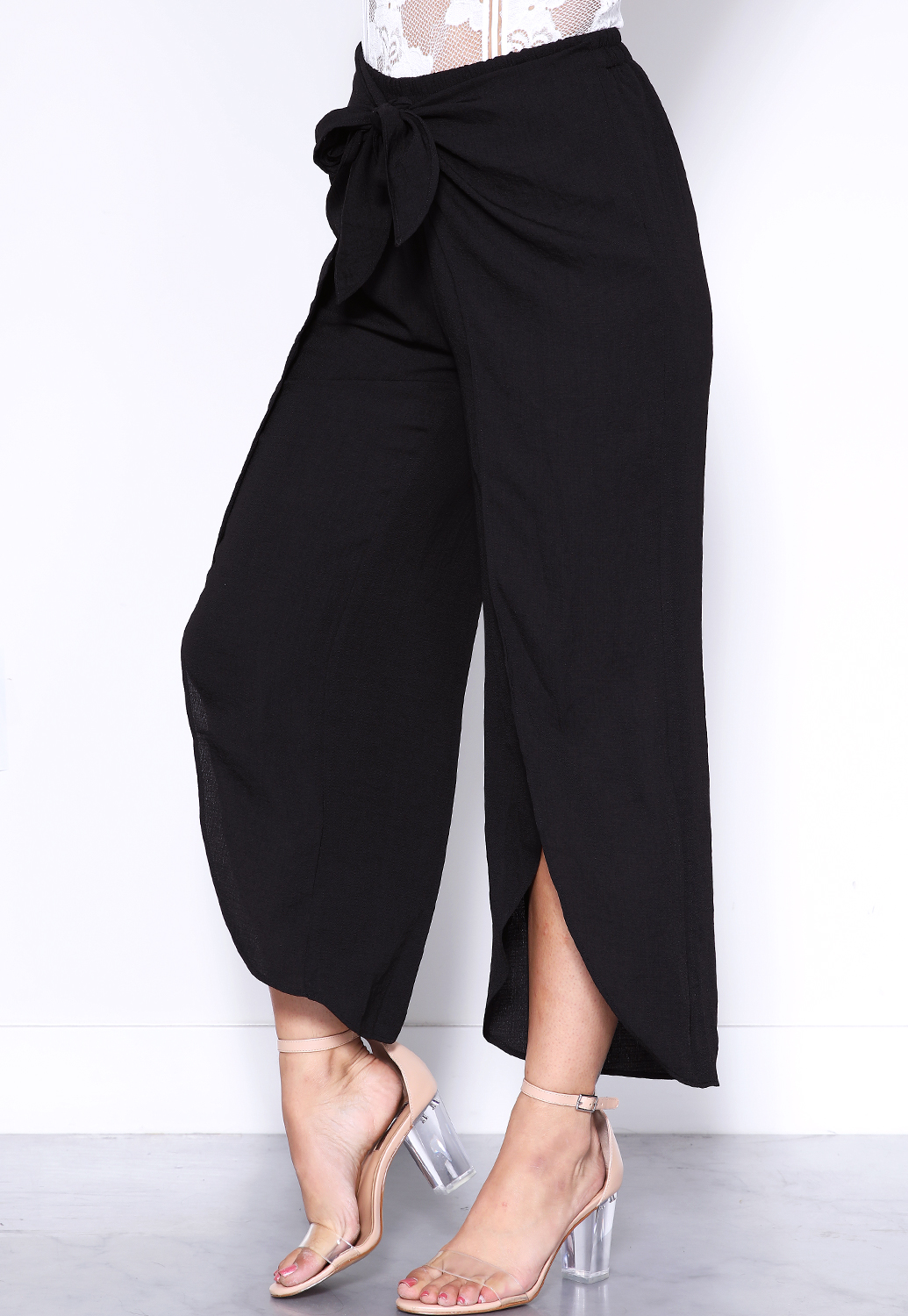 Front Cut Out Casual Pants