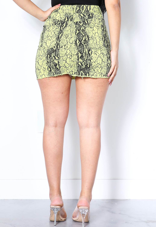 e5d3d00d628b Snakeskin Print Mini Skirt   Shop Skirts at Papaya Clothing