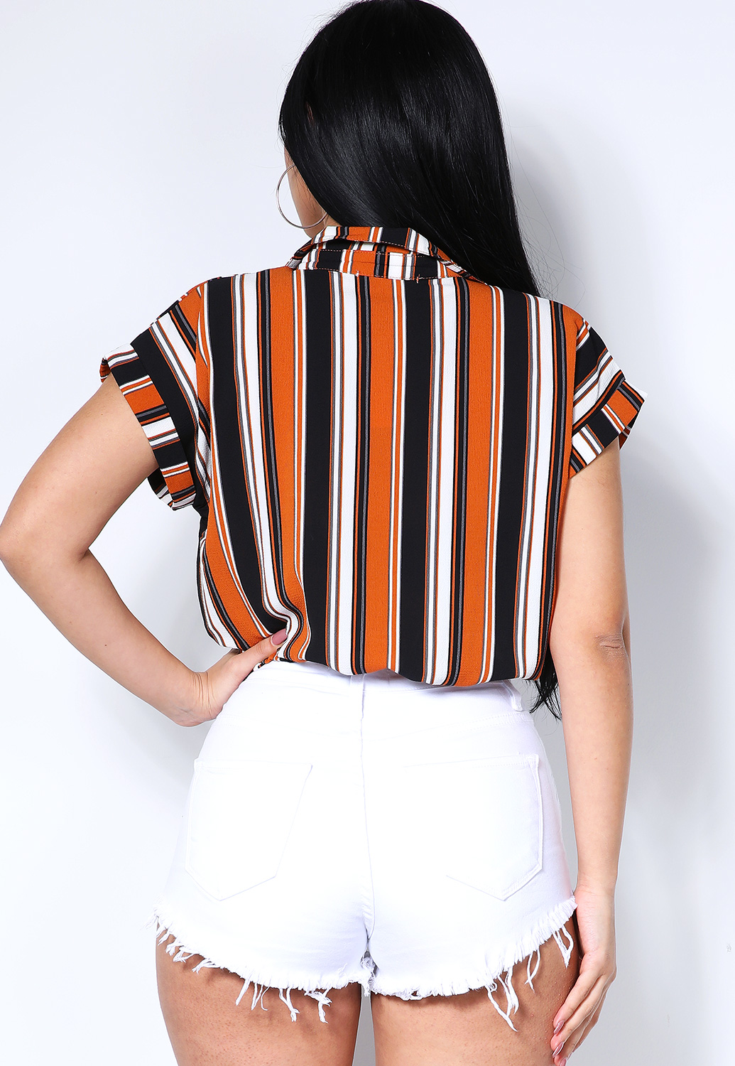 Front Twist Striped Top