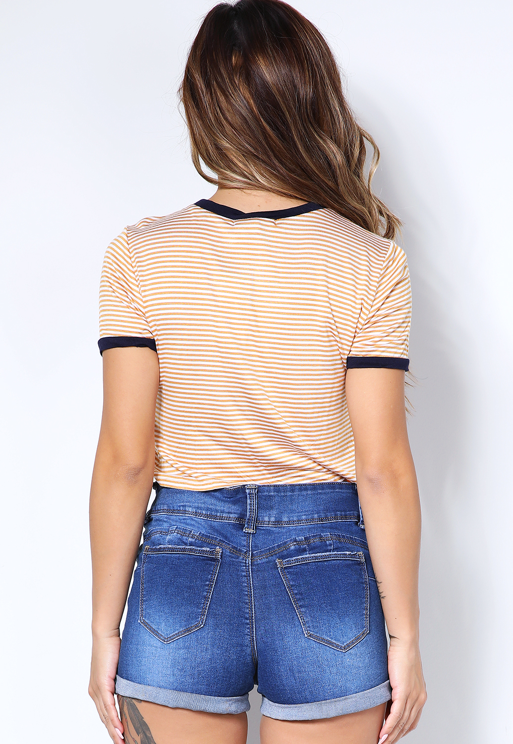 Striped Knotted Tee