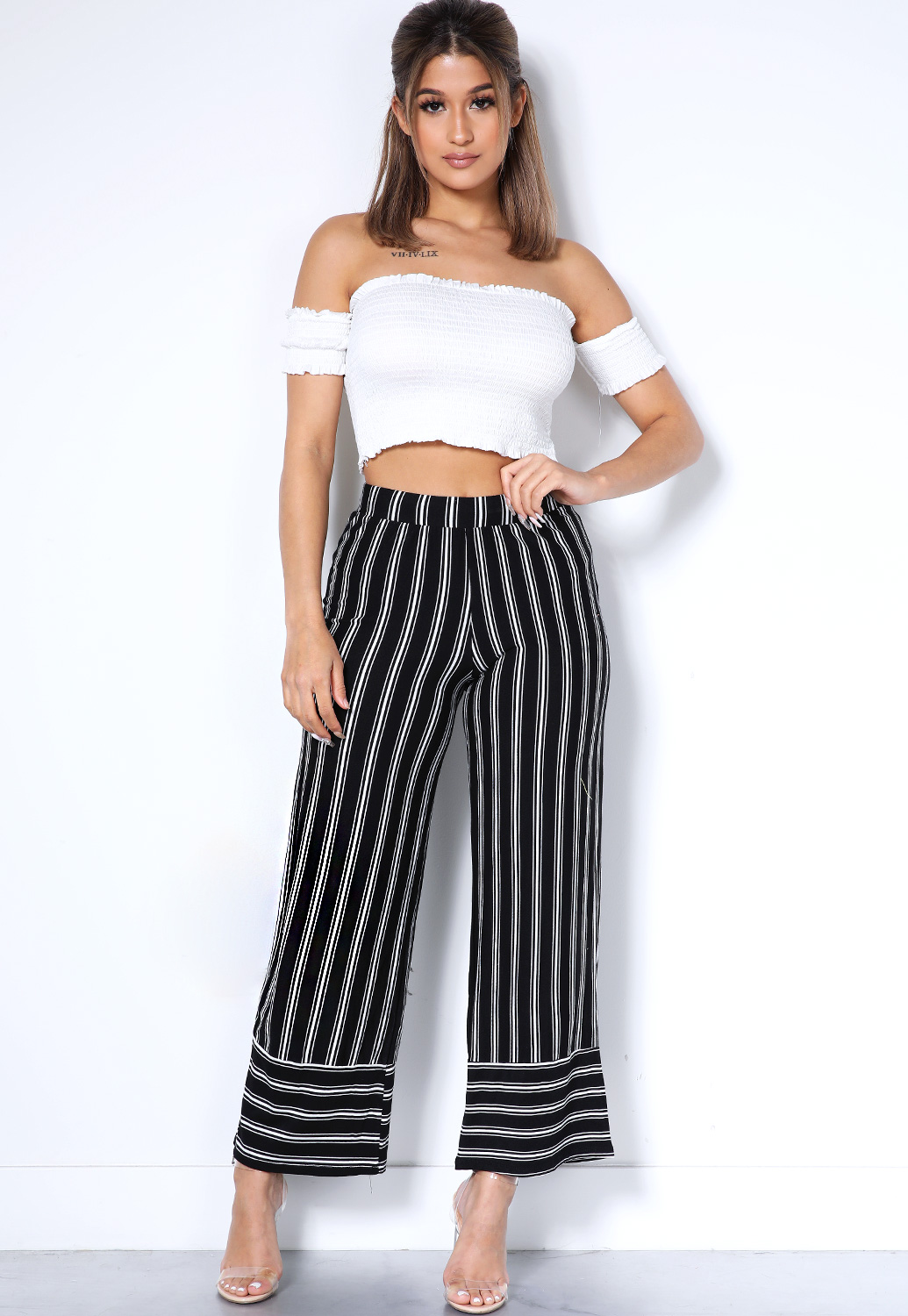 2019 discount sale the best attitude purchase genuine Vertical Striped Flare Leg Pants | Shop Pants at Papaya Clothing