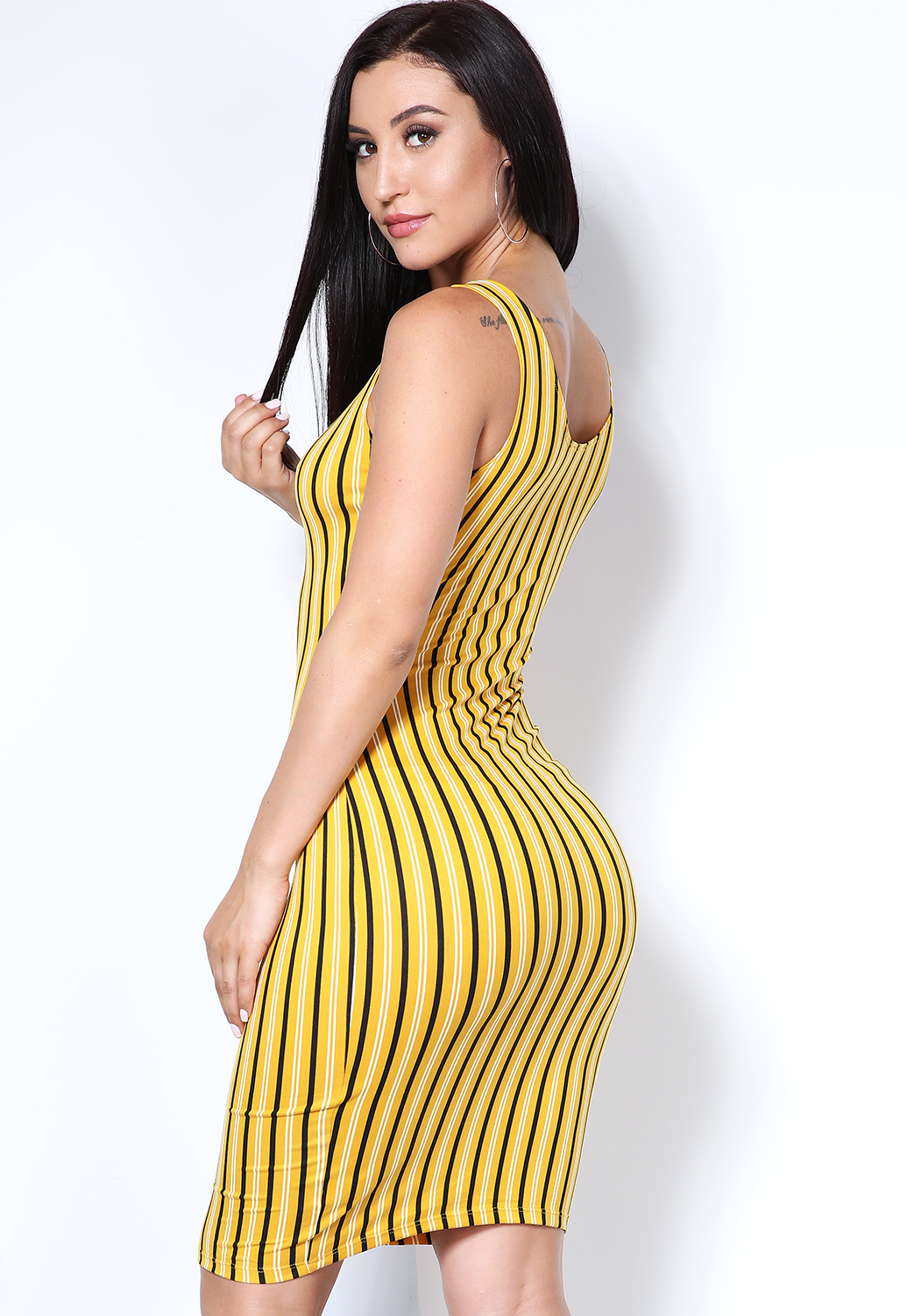 Striped Bodycon Dress
