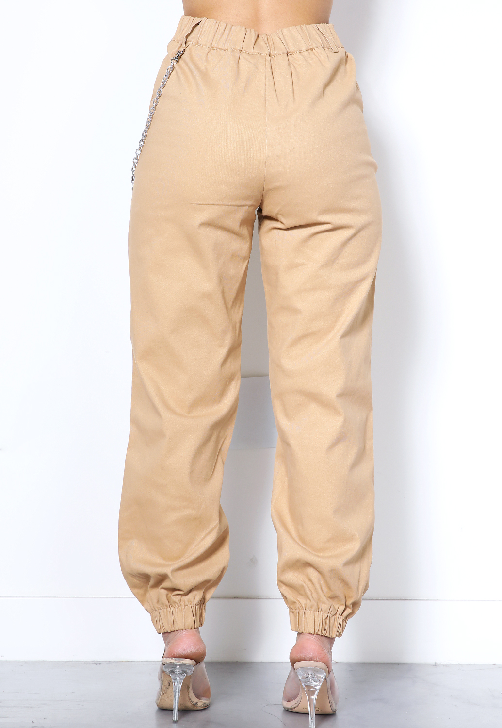 High Waisted Cargo Pants