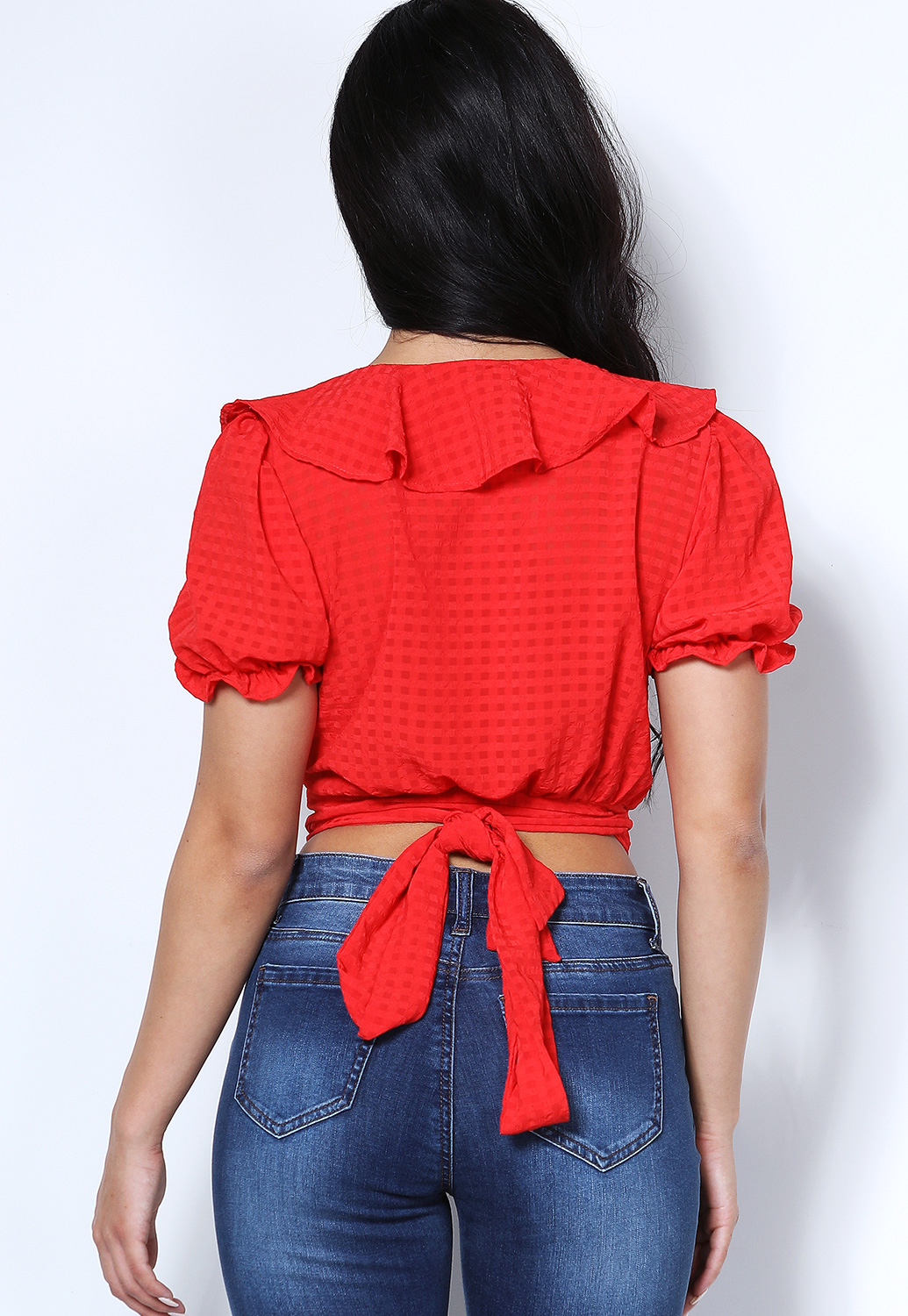 Self Tie Ruffled Top