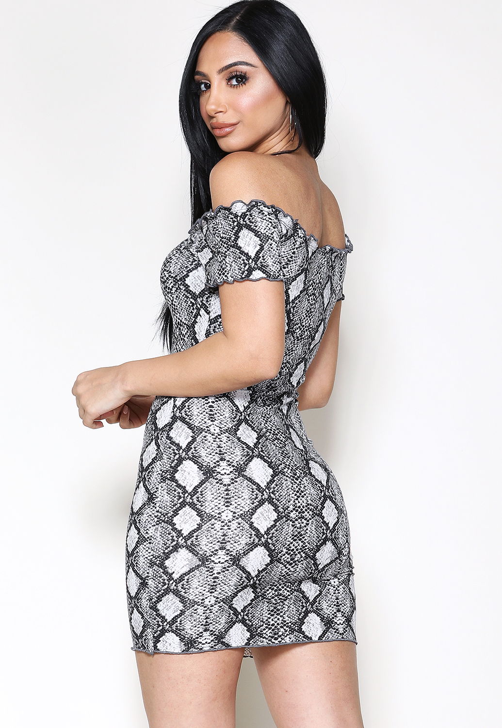 Kimberly Snakeskin Dress