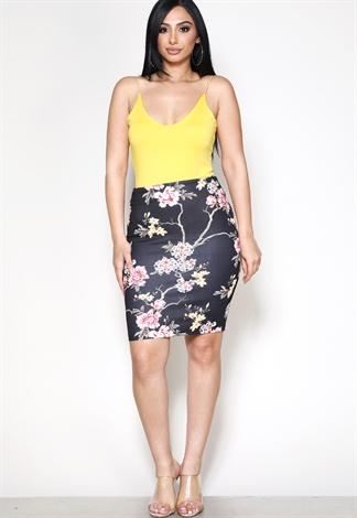 c2edd7cc206 Floral Dressy Skirt