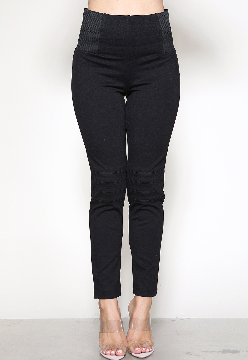 Cropped High-Waist Banded Jeggings
