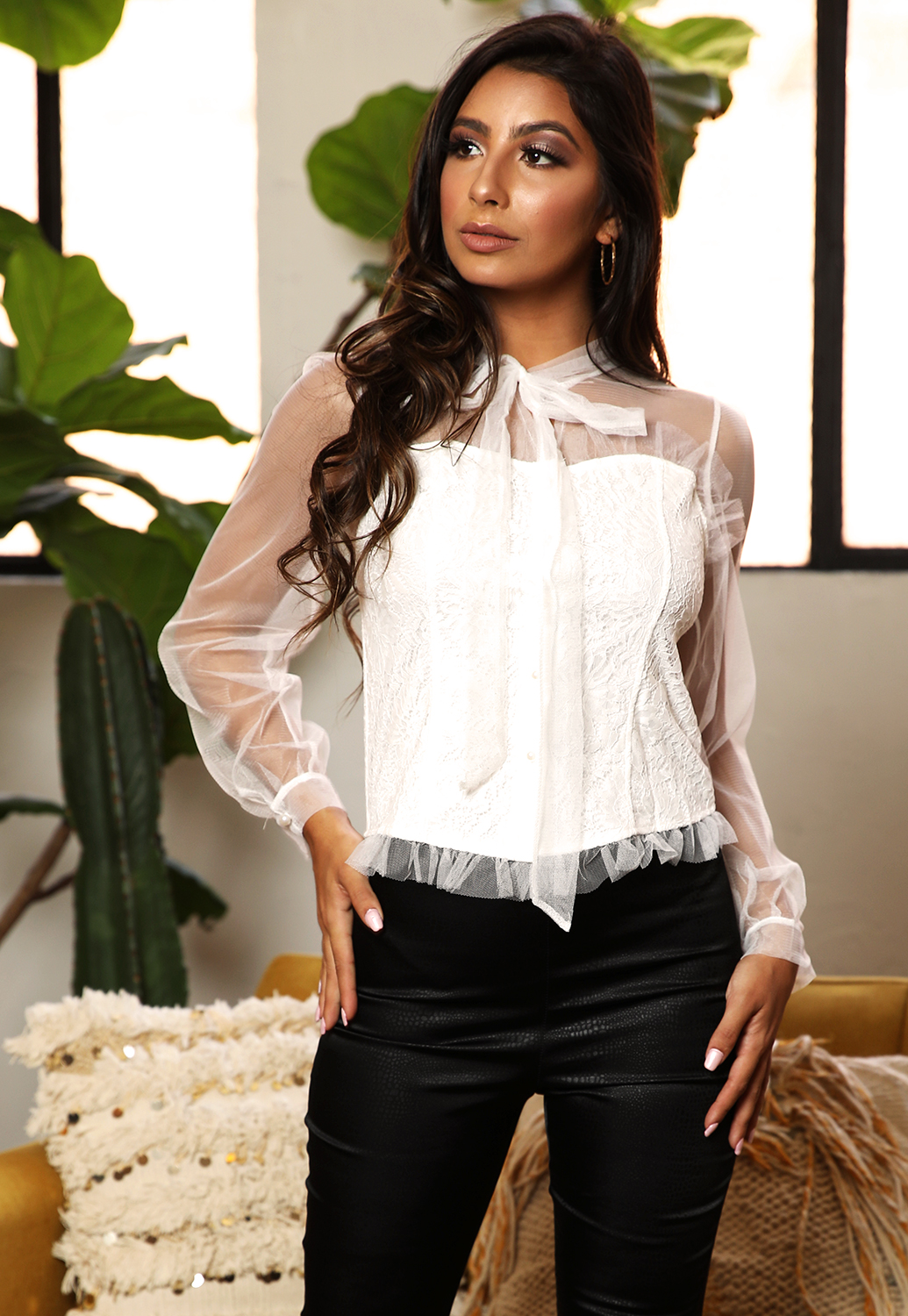 Chloe Sheer Mesh Top