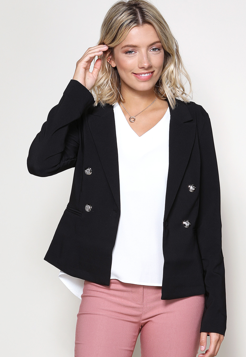 Harper Button Blazer